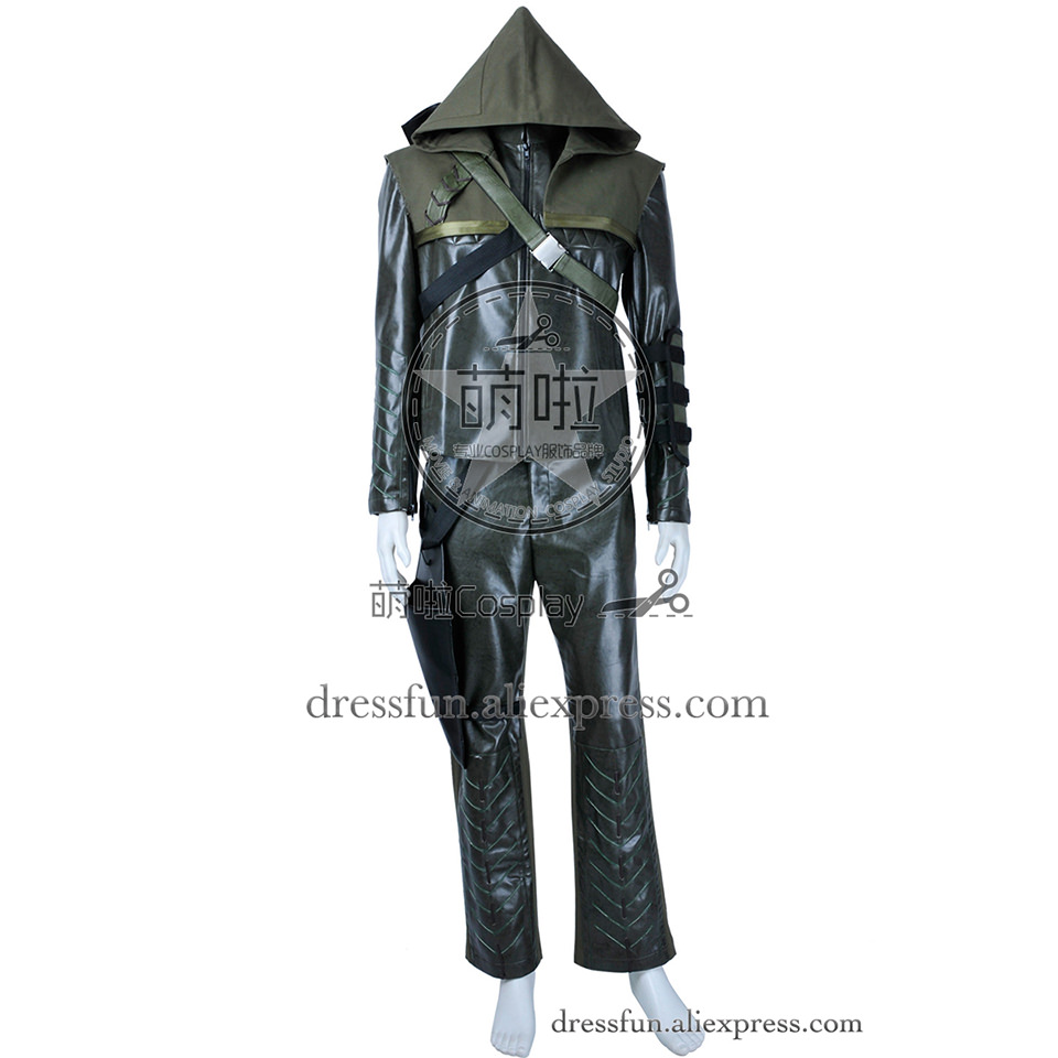Green Arrow Cosplay Oliver Queen Costume Fashion Dark Green Outfits Full Set Comfortable Uniform Fast Shipping