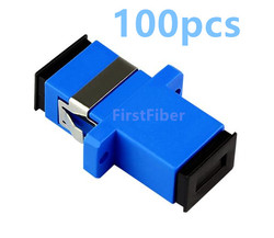 FirstFiber 100pcs SC/UPC SC PC SC connector SC adapter Fiber Optic Adapter, Fiber Optic Connector Simplex Singlemode Plastic