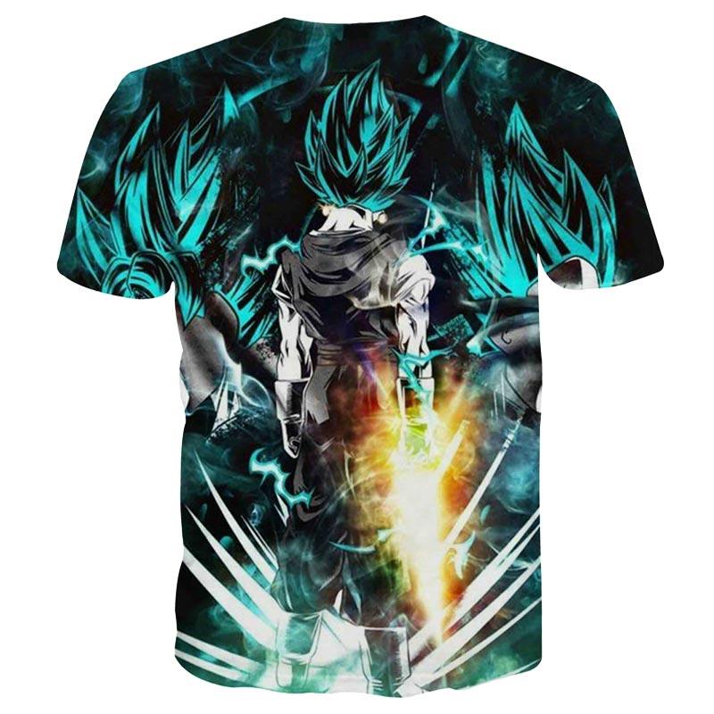 2017 New Japanese Anime T-shirts Women Men Dragon Ball Z Saiyan Tee Shirt BoyGirl Cartoon 3D Print T shirt Summer Tops Tees (2)