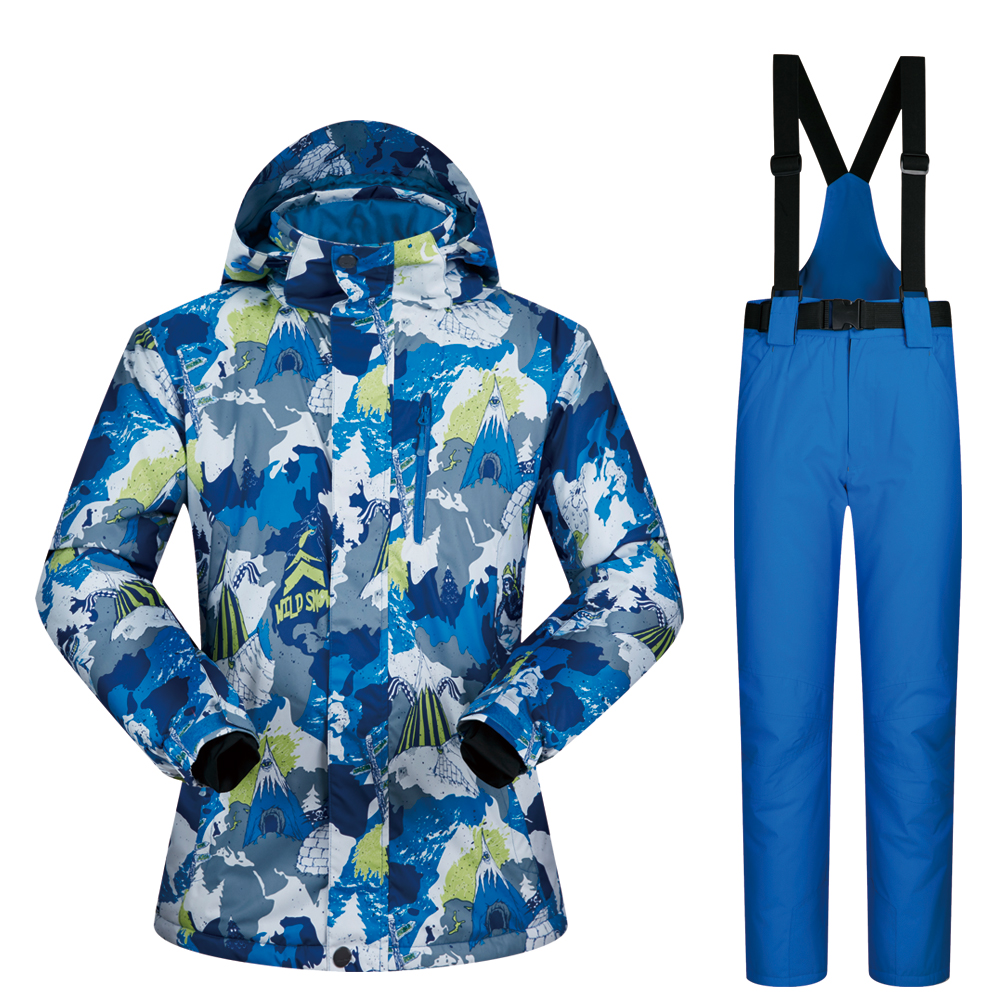 Ski Suit Men 2018 New Windproof Waterproof Thicken Male Clothes Ski Jacket And Pants Snow Winter Wear Brands Snowboarding Suits men ski suit new brands windproof waterproof warm thicken ski jacket and snow pants sets winter skiing and snowboarding suits