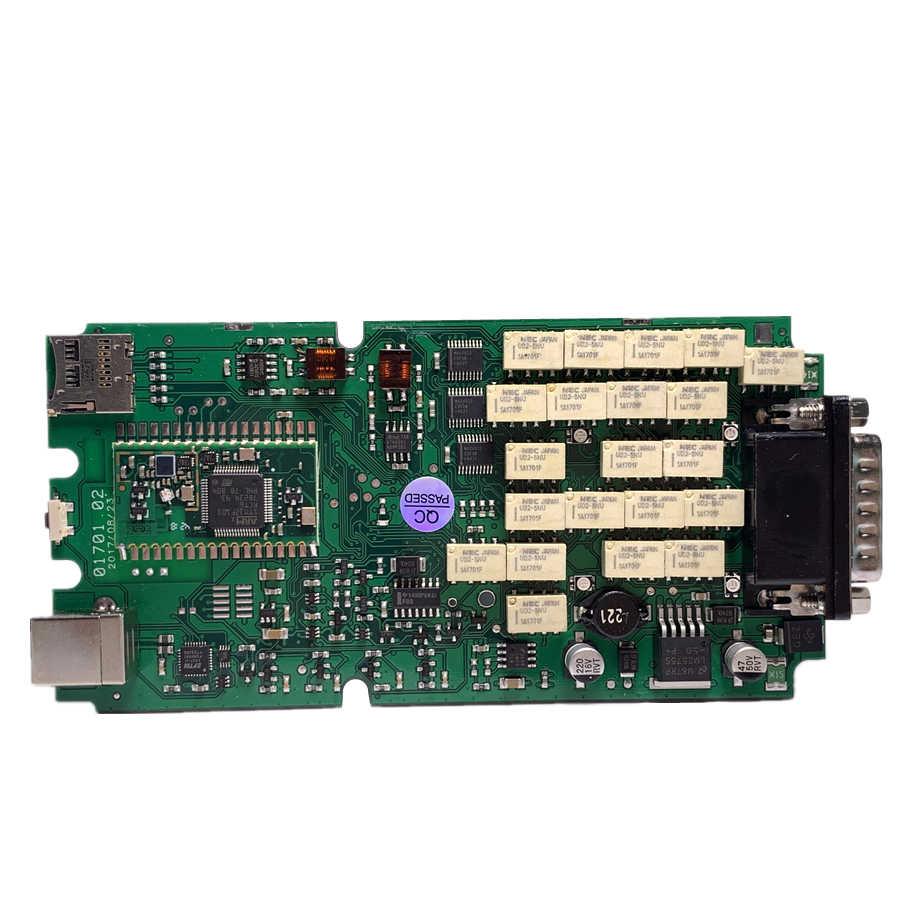 Pełny zestaw A + jakość czerwony 701 OBDIICAT TCS PRO zielony przekaźniki pojedyncza płytka drukowana Multidiag MVD nowy vci z BT 2016R1 + Keygen/2017.1