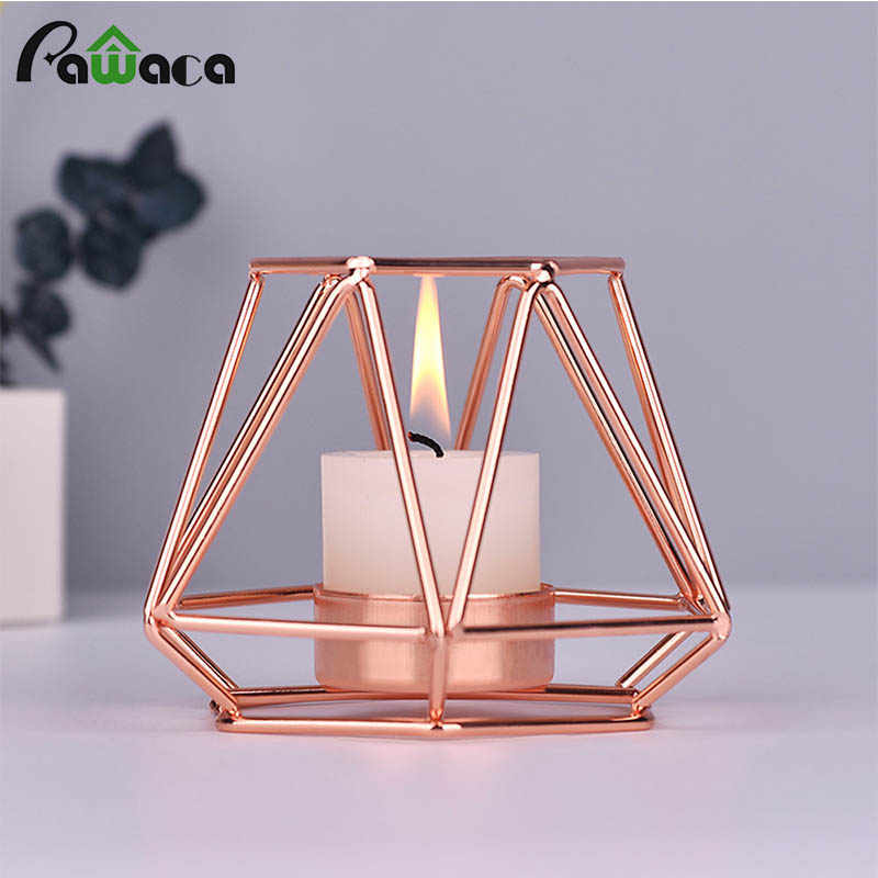 1Pcs Candle Holder Classic Iron Hot Sale Tea Light  Portable Candle Holder DIY Home Decoration Wedding Party Candlestick