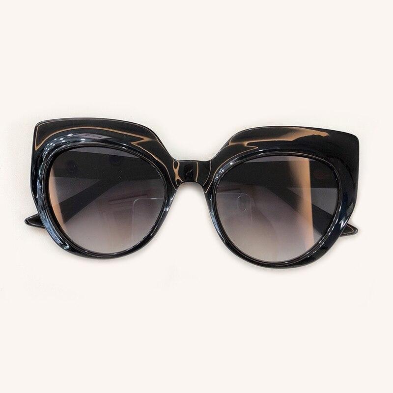 Mode No Oculos 3 6 Shades Rahmen no Größe Sonnenbrille Box no De Frauen no Mit 2 Eye Cat 2019 Große Objektiv 5 Spiegel no no Feminino Sol Polarisierte 1 4 U7qSwX