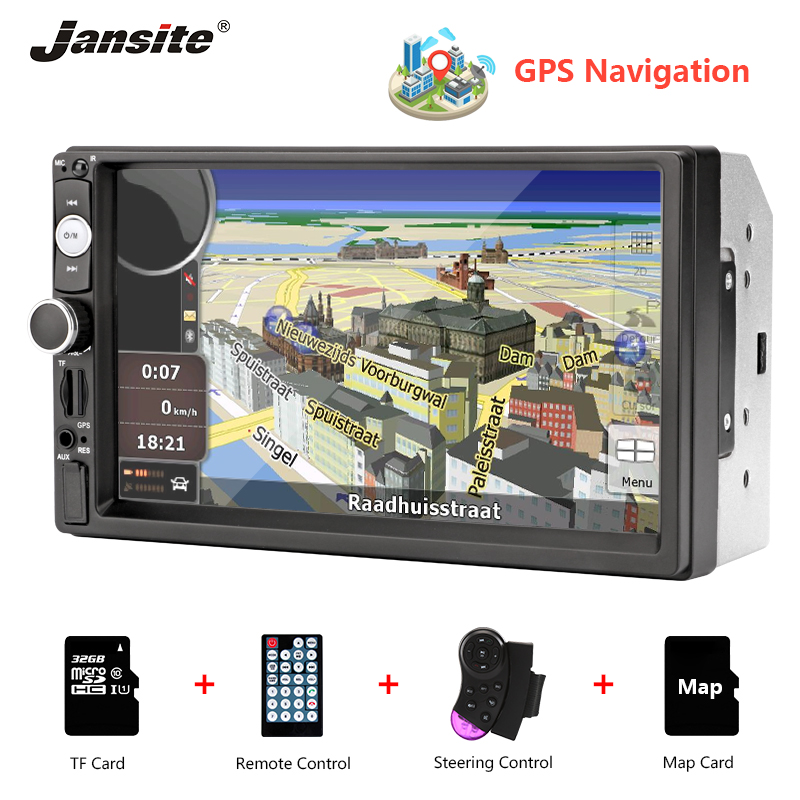 Jansite Universal 7 GPS MP5 Car Radio Touch Screen player with Backup camera Stereo radio Auto multimedia players reverse image