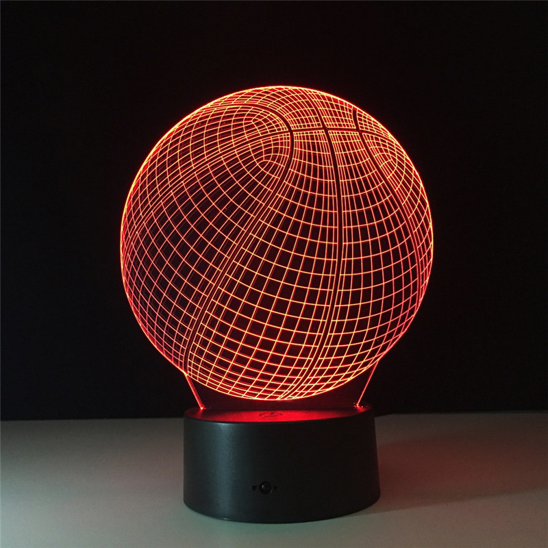 Superior LED Visiual Table Lamps 3D Illusion Basketball LED Night Light Childrenu0027s  Bedside Lighting Fixture Bedroom Decoration Lamp In LED Night Lights From  Lights ...