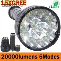 Powerful LED Flashlight 20000 Lumens Lanterna led linternas Torch 15 x CREE XM T6 LED Waterproof Super Bright LED Flashlight