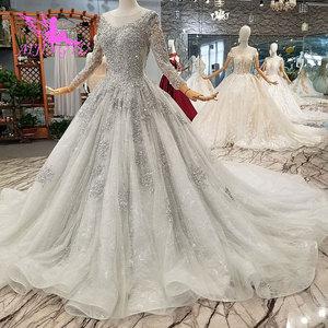 Image 4 - Aijingyuノヴァウェディングドレスクチュールブライダルガウン国チュールロング女性2021税関最新ガウンヒジャーブサテンのウェディングドレス