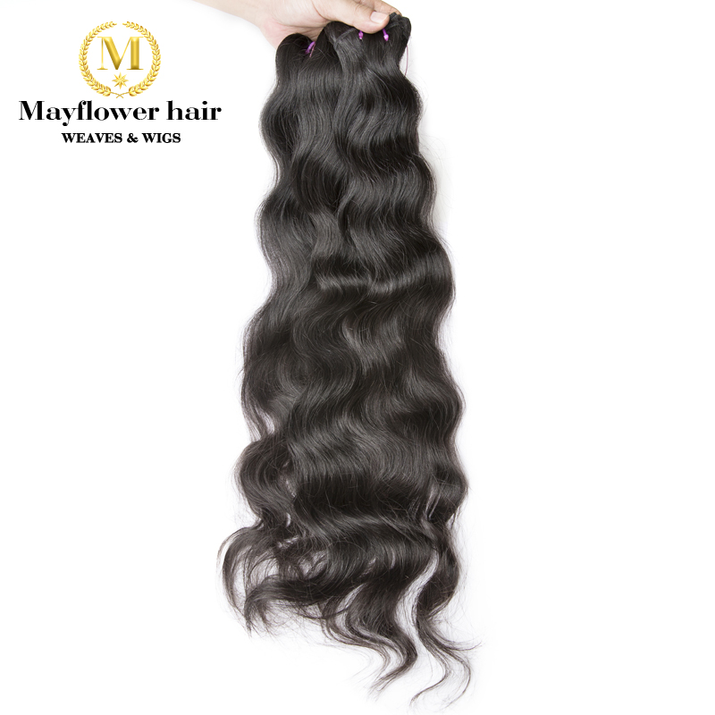 "Mayflower Raw Virgin Indian Hair Natural Wavy Original From India Natural Color Silky Bouncy Wavy Mix Length 12""-28""(China)"