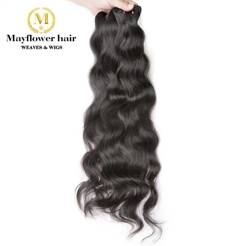 "Mayflower pelo indio virgen Natural ondulado Original de la India color natural sedoso ondulado longitud 12 ""- 28"""