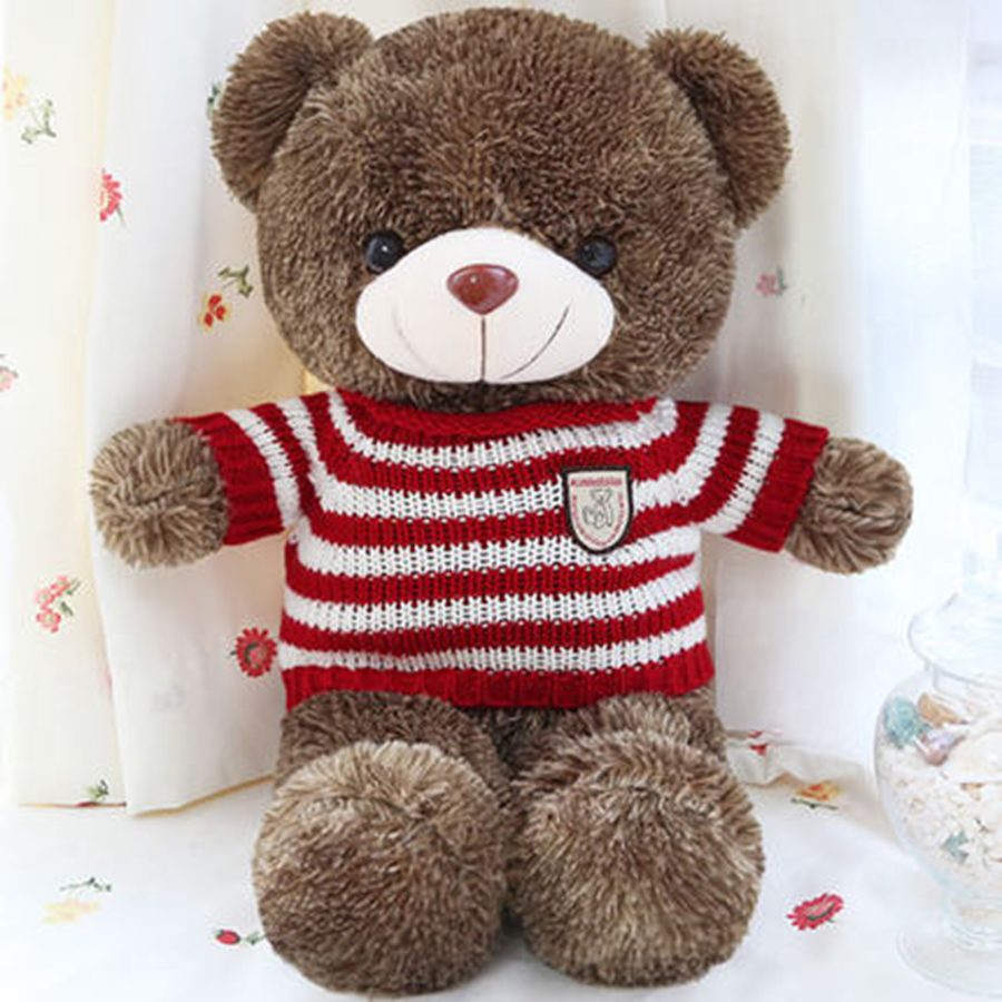 Plush Bear Cute Animal Soft Stuffed Plush Toys Bear Kawaii Cute Stuff Toy Children Happy Birthday Gift Present 80C0008 купить