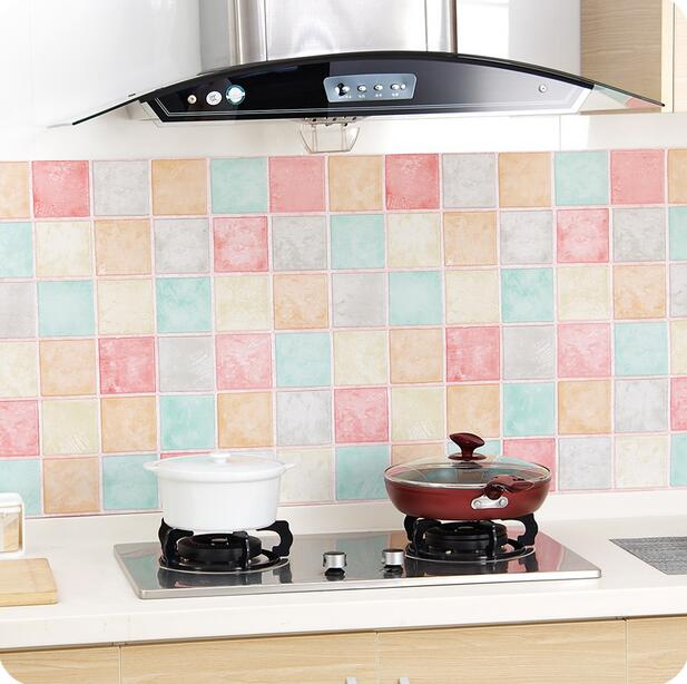 mosaik wasserdichte pvc wandaufkleber bad fliesen aufkleber 1 mt k che. Black Bedroom Furniture Sets. Home Design Ideas