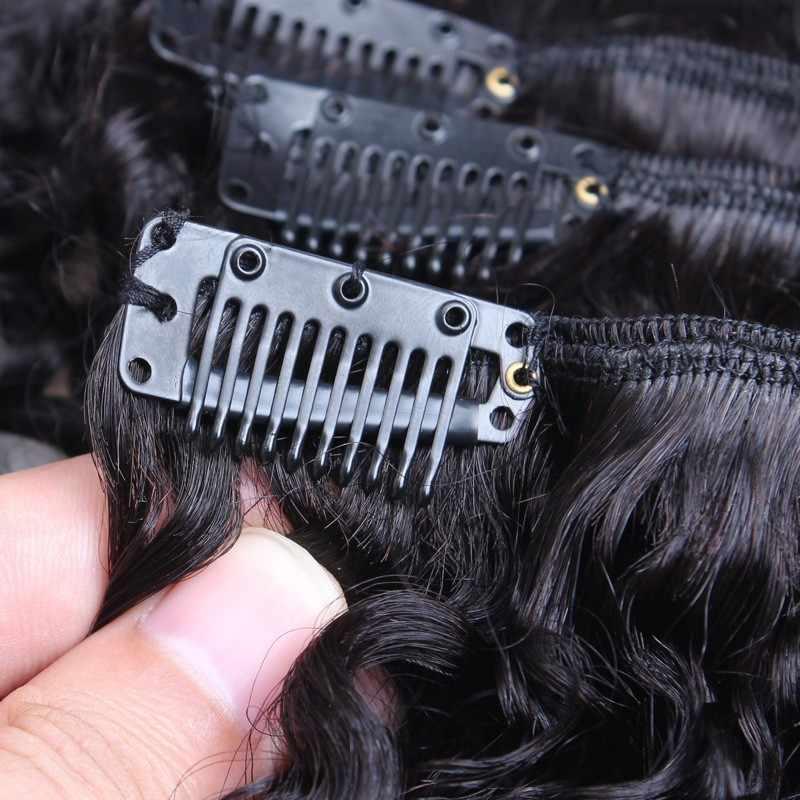 Clip rizado 3B 3C en extensiones de cabello humano conjuntos de cabeza completa Clip de cabello Natural 100% humano Ins VENVEE brasileño cabello Remy