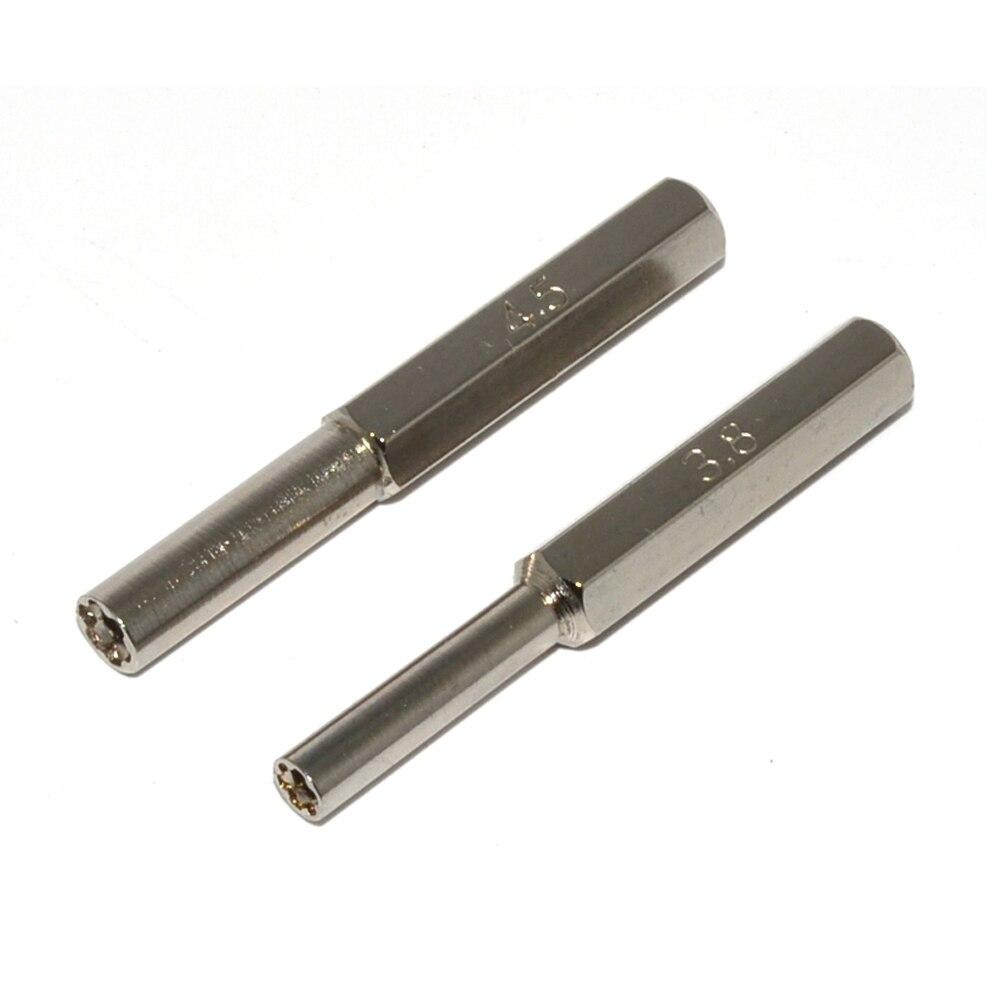 100 paire de Sécurité Peu Outil 3.8mm et 4.5mm Ensemble Tournevis pour N64 pour N G C pour SEGA jeu Console Cartouches De Réparation Outils