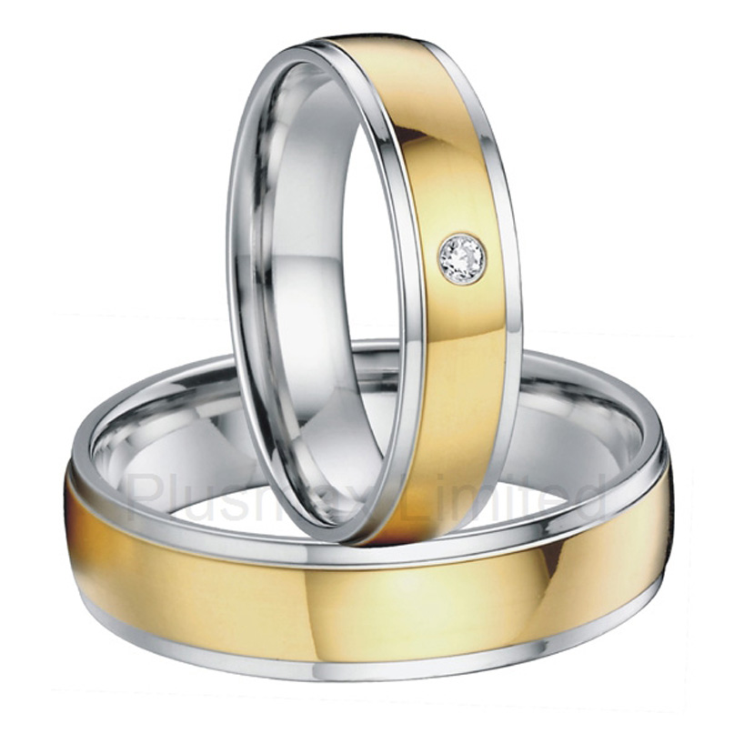 alliances China wholesaler simple classic designs two tone classic domed titanium wedding band rings alliances china wholesaler simple classic designs two tone classic domed titanium wedding band rings