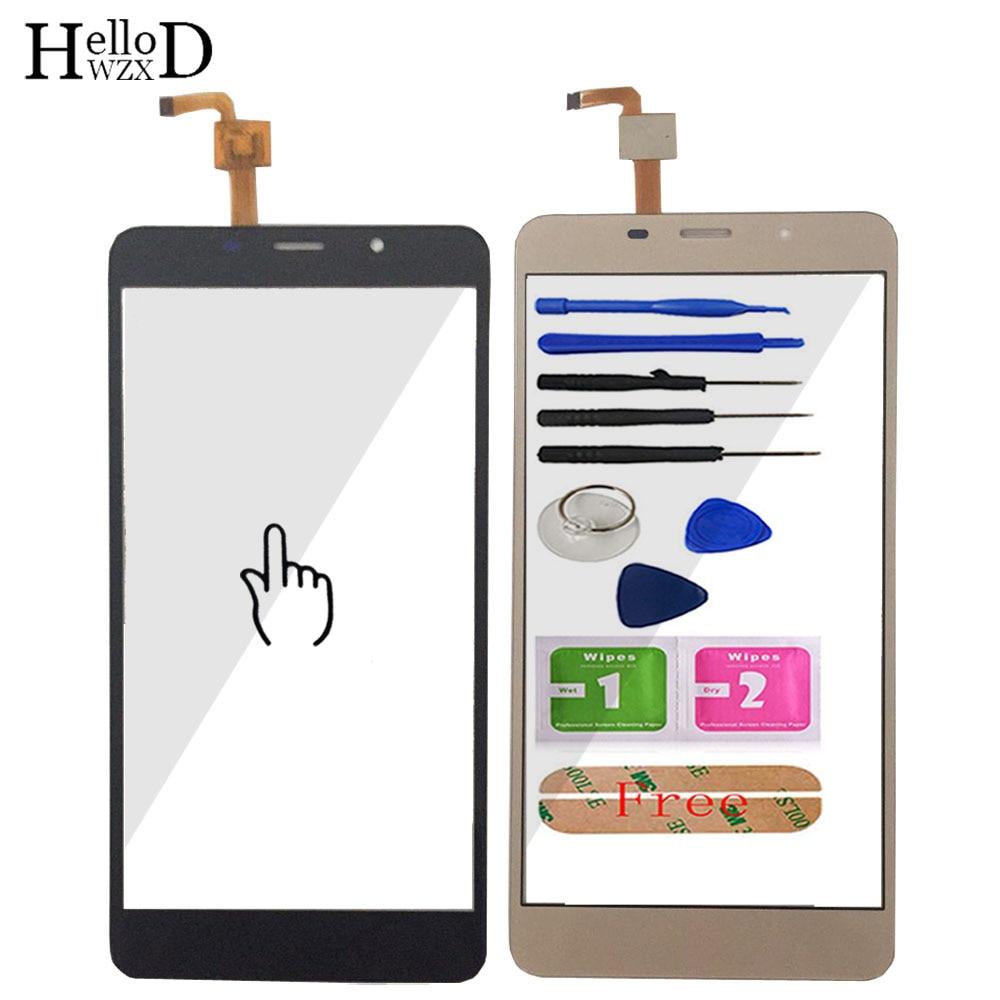 5.7 インチの携帯電話のタッチスクリーン Leagoo ため M8/M8 プロタッチスクリーンガラスデジタイザパネルレンズセンサーガラス接着剤ギフト