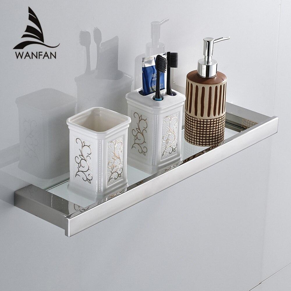 Bathroom Shelves Black Finish Stainless Steel Bath Shelf