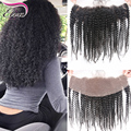 Brazilian Kinky Curly Lace Frontal Closure Full Lace Frontal Closure With Baby Hair Free Middle 3 Part Ear To Ear Lace Frontals