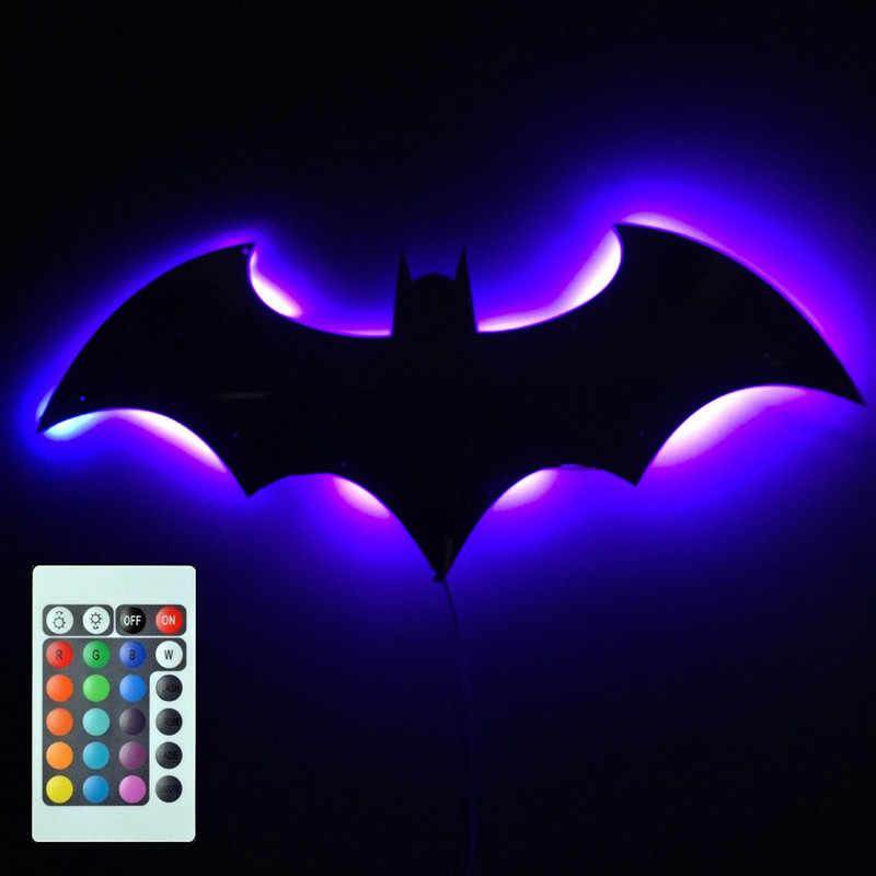 USB Power Batman LED Lightกระจกสีสันพร้อมรีโมทคอนโทรลProjection Nightรีโมทคอนโทรล