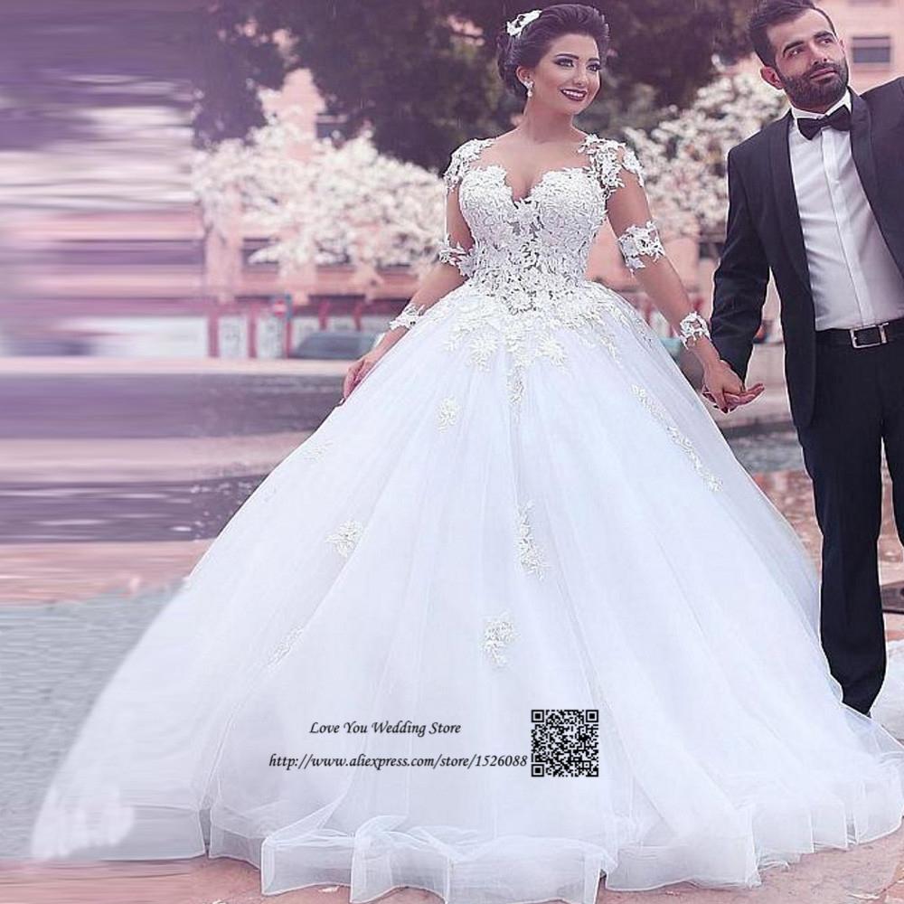 Aliexpress.com   Buy Lebanon Sexy Arab Wedding Dresses Turkey China Bridal  Gowns Vestido de Casamento Lace Long Sleeve Wedding Gown Princesa Gelinlik  from ... 4f423f9b8eb7