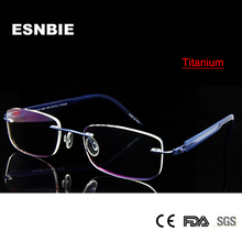 Computer Titanium Eyeglasses Rimless Glasses For Men Optical Eyeglass Frames Meet 1.56 1.61 Prescription