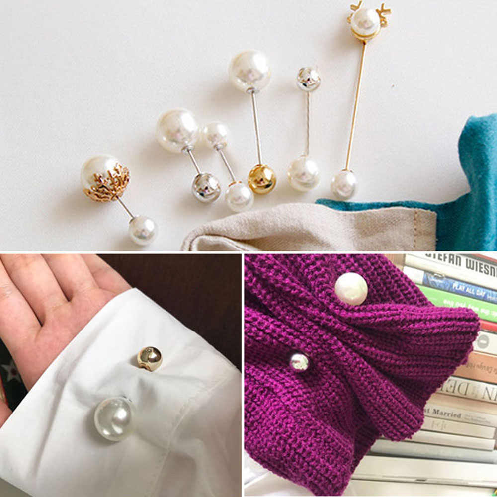 2019 Fashion Set Rose Pearl Bros Pria dan Wanita Bros Bunga Kemeja Kerah Jarum Bunga Kerah Fashion Perhiasan Aksesoris