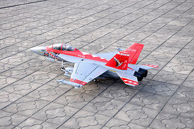 Scale SkyFlight LX RC EPS Red Metal Twin 70MM EDF F18 Bounty Hunter RTF RC Airplane W/ Brushless Motor Servos ESC Battery
