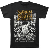 Napalm Death Men S From Enslavement To Obliteration Vintage T Shirt Casual Short Sleeve Men S
