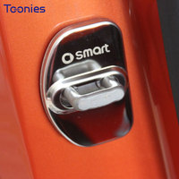 Car Styling Stainless Steel Car Door Lock Cover New Smart Fortwo Forfour Car Accessories Auto Door