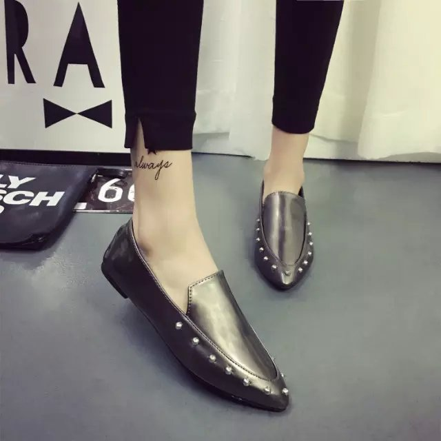 2016 Hot Rivets Women Shoes Woman Comfortable Basic Pointed Toe Casual Soft Female Flat Loafers Womens Brand Las Flats Office In S From