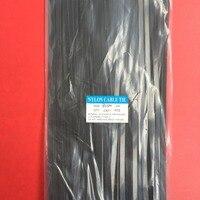 100Pcs Pack 8 500mm High Quality Width 7 6mm Black Color National Standard Self Locking Plastic