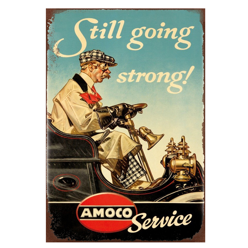 Still going strong. retro tin signs vintage metal plate the wall decoration for bar home cafe garage