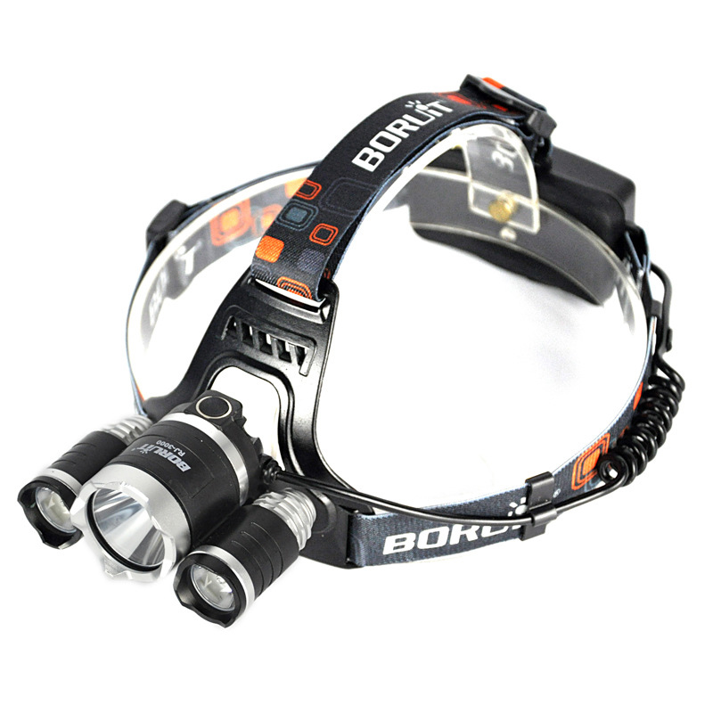 LED XM - L2 T6 strong baldheaded light USB charging head lamp Outdoor fishing Hunting lamp search, patrol, daily carrying