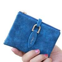 Lady Letter Snap Fastener Short Clutch Wallet Vintage Matte Women Wallet Fashion Small Female Purse Short