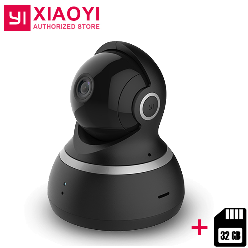 US $58 56 29% OFF|Xiaoyi YI Dome Camera 1080P + 32G Card 112