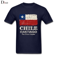 Chile Flag Vintage T Shirt Men Man S Geek Custom Short Sleeve Boyfriend S Plus Size
