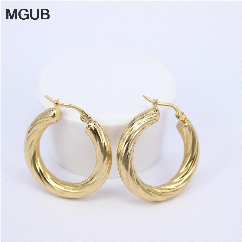 Mgub Große Ohrringe Neue Trendy Gold Farbe Hoop Ohrringe Schmuck Großhandel Runde Große Größe Hoop Ohrringe Für Frauen Lheh74 Verbraucher Zuerst