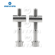 1Pair Cycling Seatpost Bolts M5x40mm Titanium Ti Bolt Nut Washer