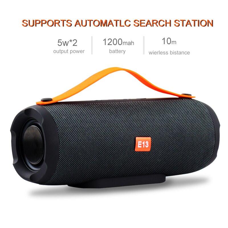 E13 Mini Tragbare Wireless Bluetooth Lautsprecher Stereo Freisprecheinrichtung Radio Musik Subwoofer Spalte Lautsprecher für Computer mit TF FM