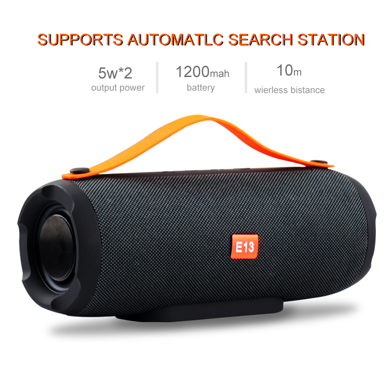 E13 Mini portátil inalámbrico Bluetooth altavoz estéreo altavoz Radio música Subwoofer columna altavoces para ordenador con TF FM
