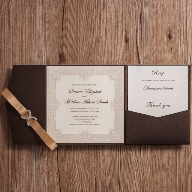 wishmade 50pcs classic wedding invitation card kit with thank you