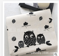 The New Series Of Owl Cotton Linen Cotton Fabric For Patchwork Quilting Bedding Sheet Home Textile