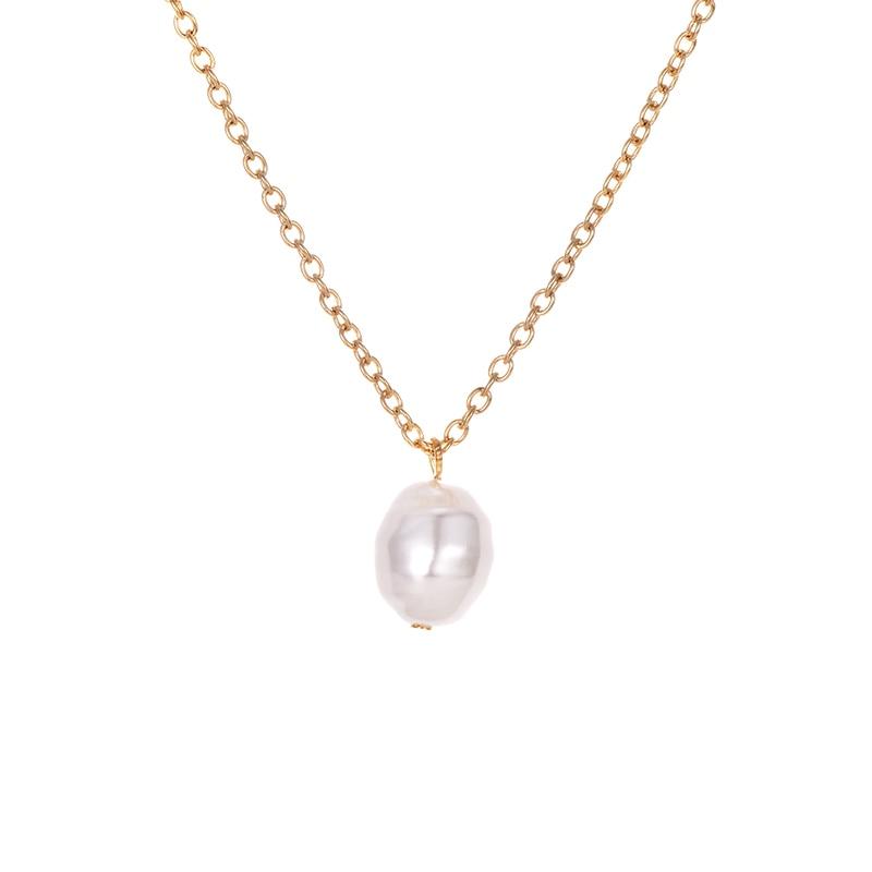 Модное ожерелье с подвеской для глаз для женщин, ожерелье с кристаллами, сексуальные персонализированные чокеры, короткая цепочка на ключицы, ювелирные изделия - Окраска металла: pearl