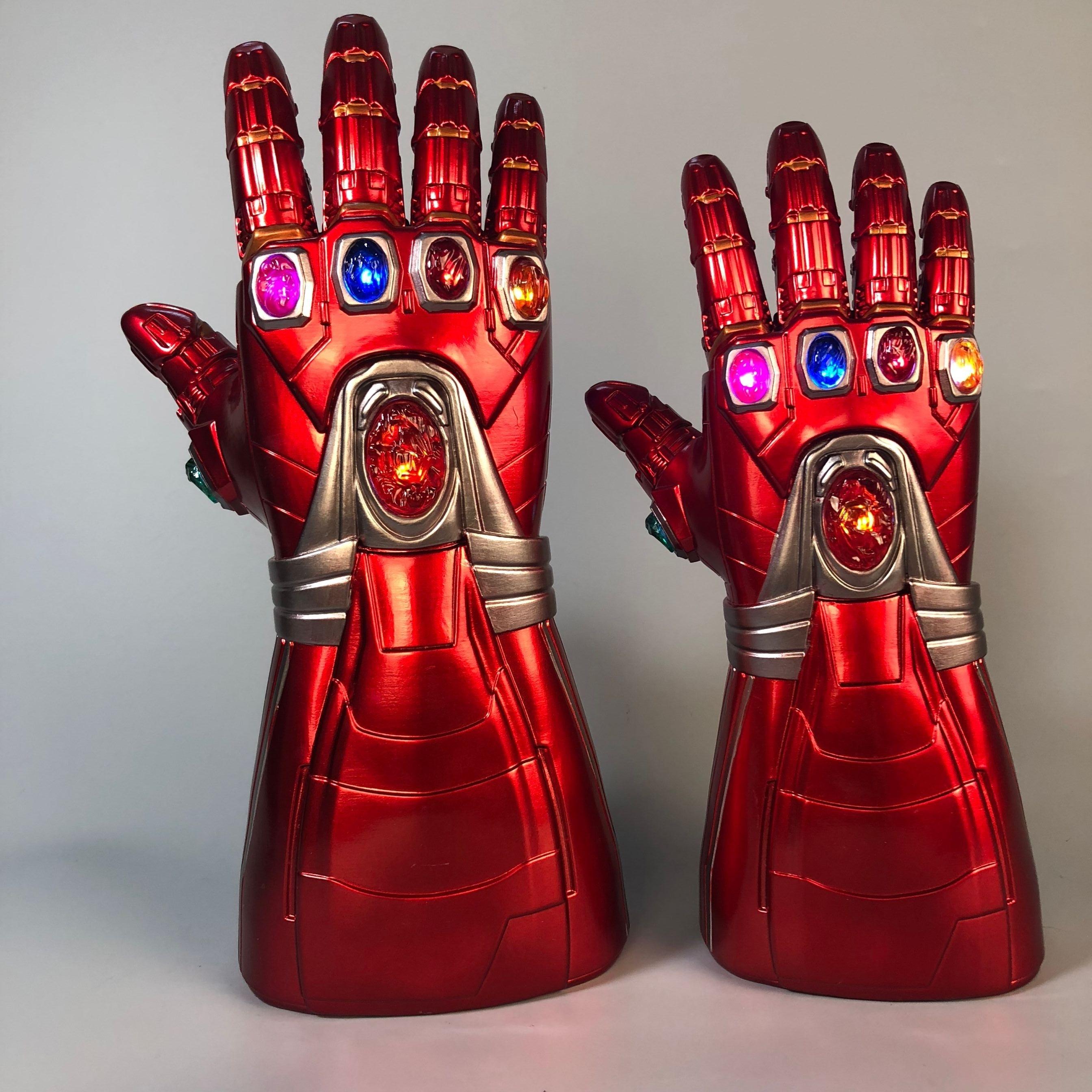 Avengers 4 Endgame Iron Man Tony Stark Led Gloves Infinity Light Up Gauntlet Thanos Infinity Cosplay