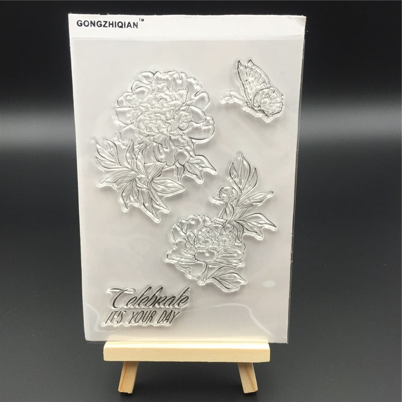 flower Transparent Clear Stamp DIY Silicone Seals Scrapbooking/Card Making/Photo Album Decoration Accessories A043 loving heart and ballon transparent clear stamp diy silicone seals scrapbooking card making photo album craft cl 285