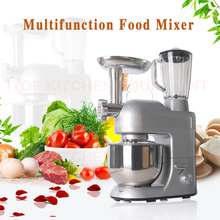 Electric Mixer Food Processor Juicer Blender Dough Kneading Machine Grinder Eggs Cake Kitchen 5L Food Cooking Mixing Beater 220v 1000w electric dough mixer professional eggs blender 5l automatic food mixer milkshake cake mixer kneading machine