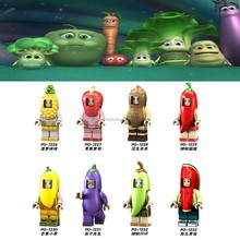 Legoing Movie Fruit baby figurs Pineapple Strawberry Peanut Chili Mango Eggplant Model Building Blocks Toys for Children Legoing(China)