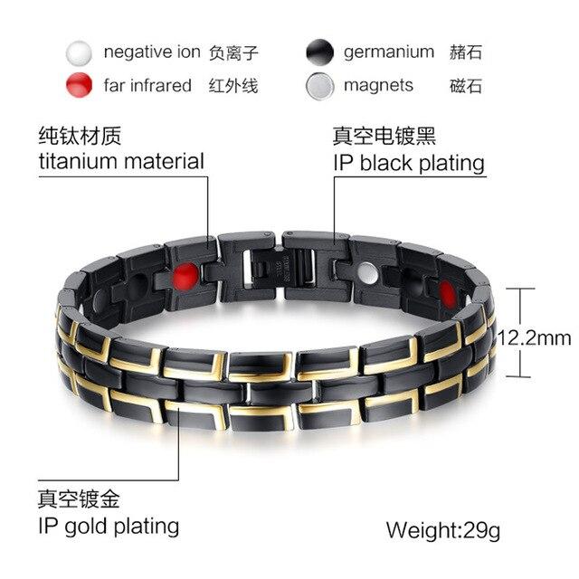 Лидер продаж магнитные браслеты с звеньями Цепи для мужчин трендовые