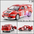 Кэндис го Очень крутой 1:36 мини спорт Mitsubishi № 7 семь красных сплав гоночный автомобиль модели игрушка подарок на день рождения творческий отступить 1 шт.