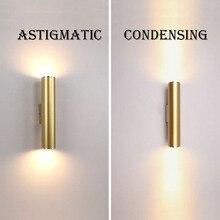 Настенный светильник Золотая трубка дизайн огни покрытие алюминиевая крышка светодио дный LED Бра свет Прихожая кофе магазин Крытый вверх и вниз свет