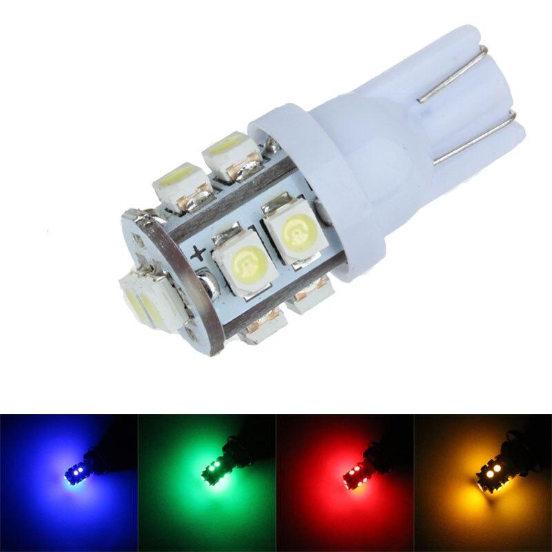 Car Led Light T10 501 194 168 W5W 10 LED 1210 3528 SMD Side Wedge Light Lamp Bulb White DC 12V